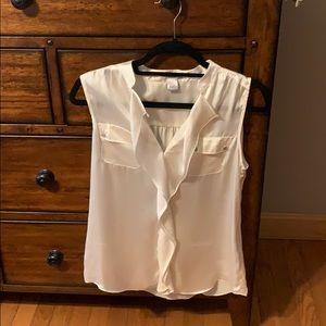 Silk sleeveless blouse